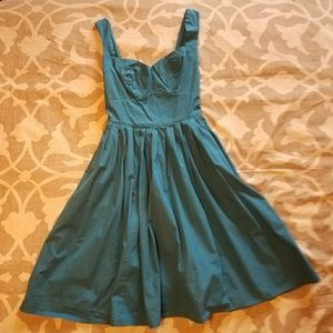NWOT EShakti Vintage Inspired Teal Dress